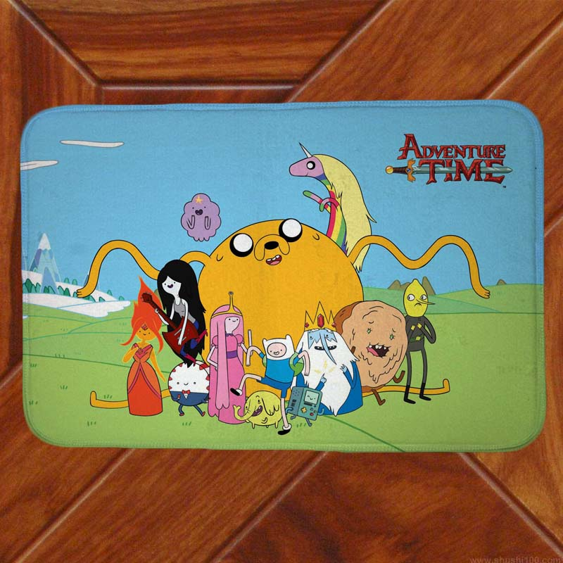 Adventure Time Floor Mat Carpet Decor Bedroom Doormat Anime Manga 001 image
