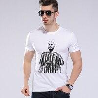 Summer Hip Hop Men T Shirt Tops Italian Football Club Juventus Soccer Player Short Sleeve Men