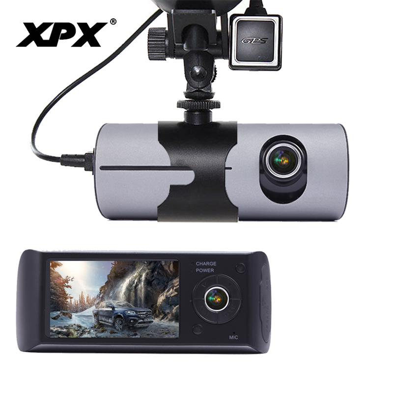 Dash cam XPX R300 Car DVR Car camera GPS HD Two camera все цены