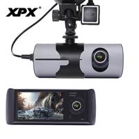 Dash cam XPX R300 Car DVR Car camera GPS HD Two camera