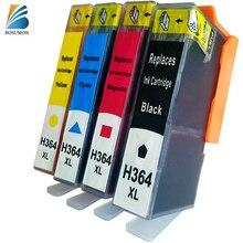 Bosumon Ink Cartridge for HP 364 xl compatible with Officejet 5520 5524 6510 6520 7510 B109 B110 B209 B210 C309 C310 Printer