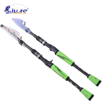 iLure High Quanlity Pesca Fishing Rod Spinning Casting Carbon Lure Rod 1.98M 2.1M 10 28g 10 20LB Ultralight Portable Telescopic