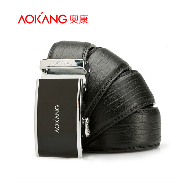 Aokang New Brand Designer Belts Men High Quality Black Brown Male Genuine Leather Automatic Belt Free Shipping Wholesale