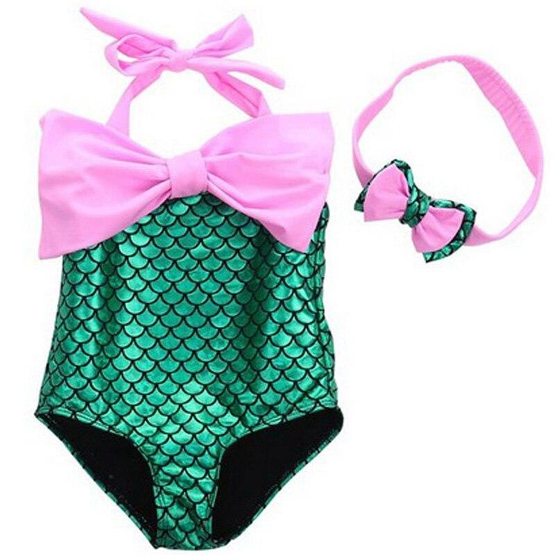 2018 Neugeborenen Baby Mädchen Kleidung Baby Romper Bebe Mädchen Meerjungfrau Badeanzug Sommer Boy Kleidung Set Für Neugeborene Overalls & Strampler