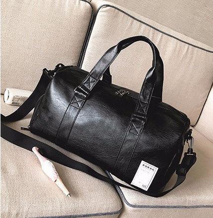 PU Ins Training Bag, Crossbody Round Sport Bag, Fitness Cool Fashion Bagpack, Belt Shoulder Beachbag