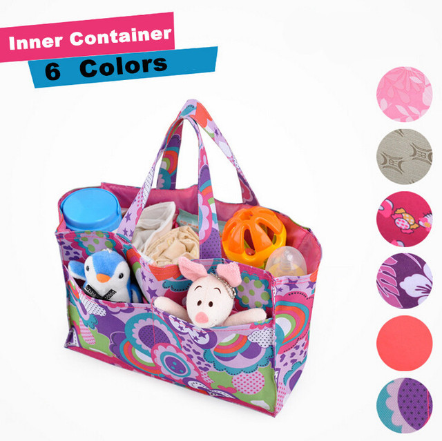 2016 Inner Storage for Mother Bag/Travel Nappy Bags/Baby Diaper Semiportable Bag/7 Liner/Lining Divider Interior Container