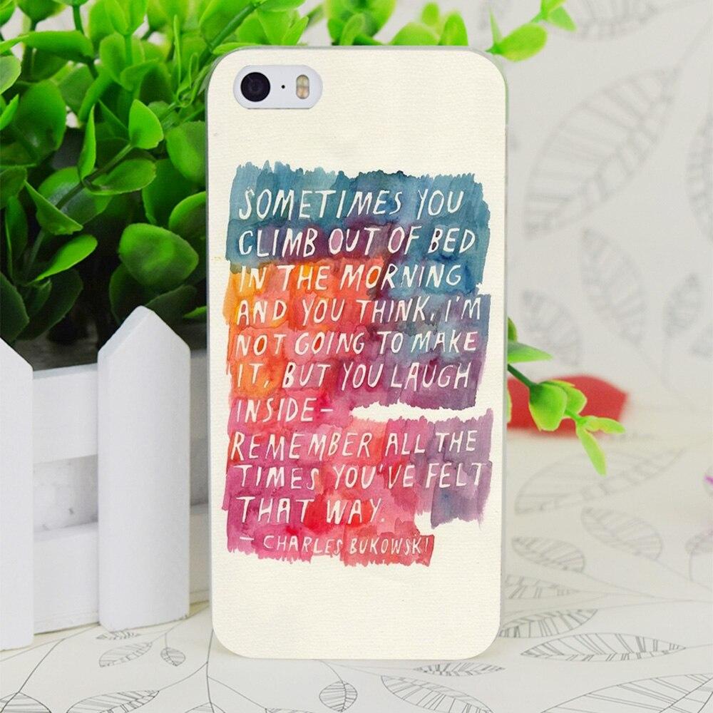 C3137 Чарльза Буковски прозрачный жесткий тонкий корпус кожного покрова для Apple IPhone 4 4S 4 г 5 5 г 5S se 5C 6 6 S плюс