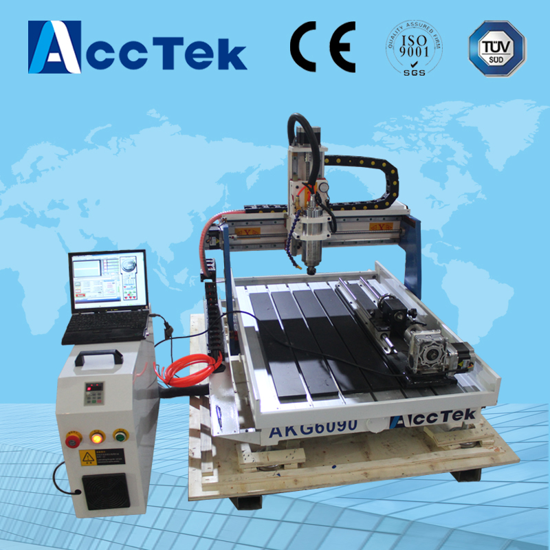 Cheap Mini 4 Axis 1.5kw water cooling spindle motor 6090,6040 USB  port 4 axis cnc router cheap price mini cnc router 2520t 3 axis 200w spindle for new user or school tranining