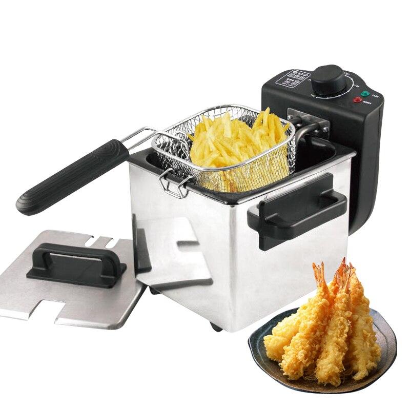 La friteuse à huile électrique de friteuses profondes est utilisée pour la machine à frire de poêle sans fumée de 1.5l