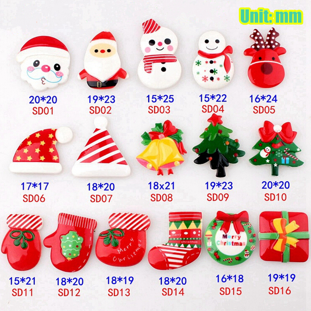 Diy Decoration Small Craft Resin Christmas Ornaments Accessories 50 Pieces