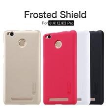 Original NILLKIN hard matte UV case For Xiaomi Redmi 3 Pro Hongmi 3 Pro 3S / 3 Prime Super frosted shell With Free HD Film NK1