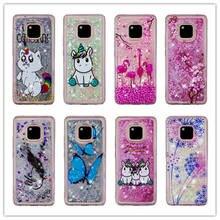 Bling Quicksand Case For Huawei Mate 10 20 Lite 3D Unicorn Liquid Glitter Pro Phone Cover Coque