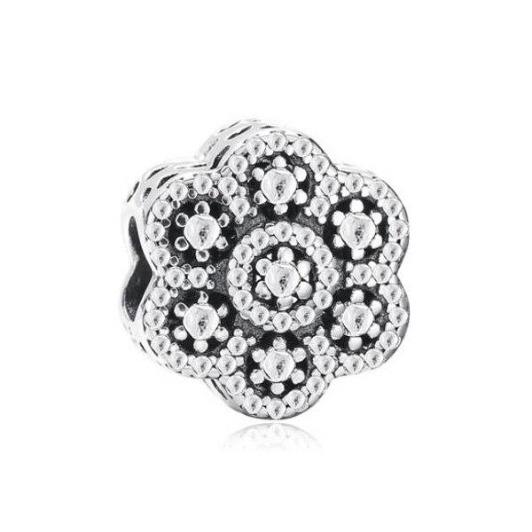 декор цветок; Материал:: Кристалл; Штраф или моды: Мода; браслет Пандора серебро;