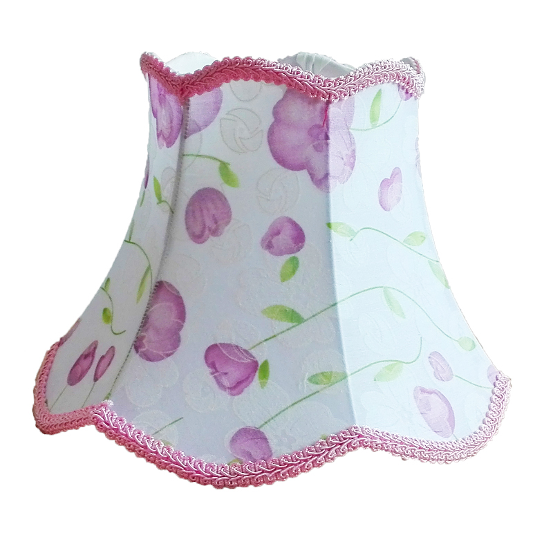 Simple And Fashionable E27 Desk Lamp Lampshade, Pink Lace, Flower Pattern, Textile Fabrics Decorative table lamp shade