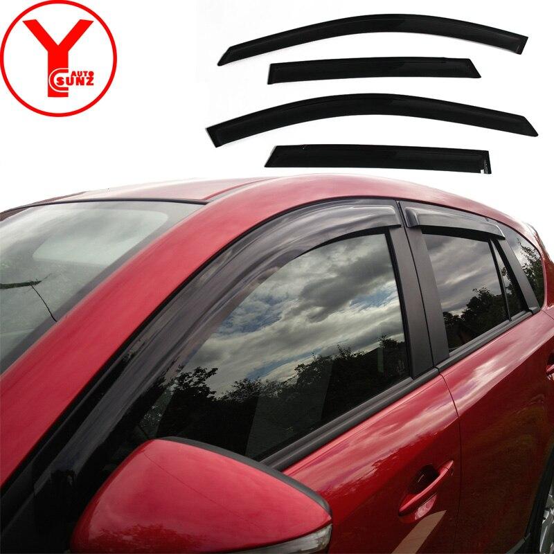 For 2003-2007 Toyota Corolla 4 Pcs Brand New Smoke Black Seden Side Vent Window Visors Defector Rain Sunshading Guard Set 99/_OnLine