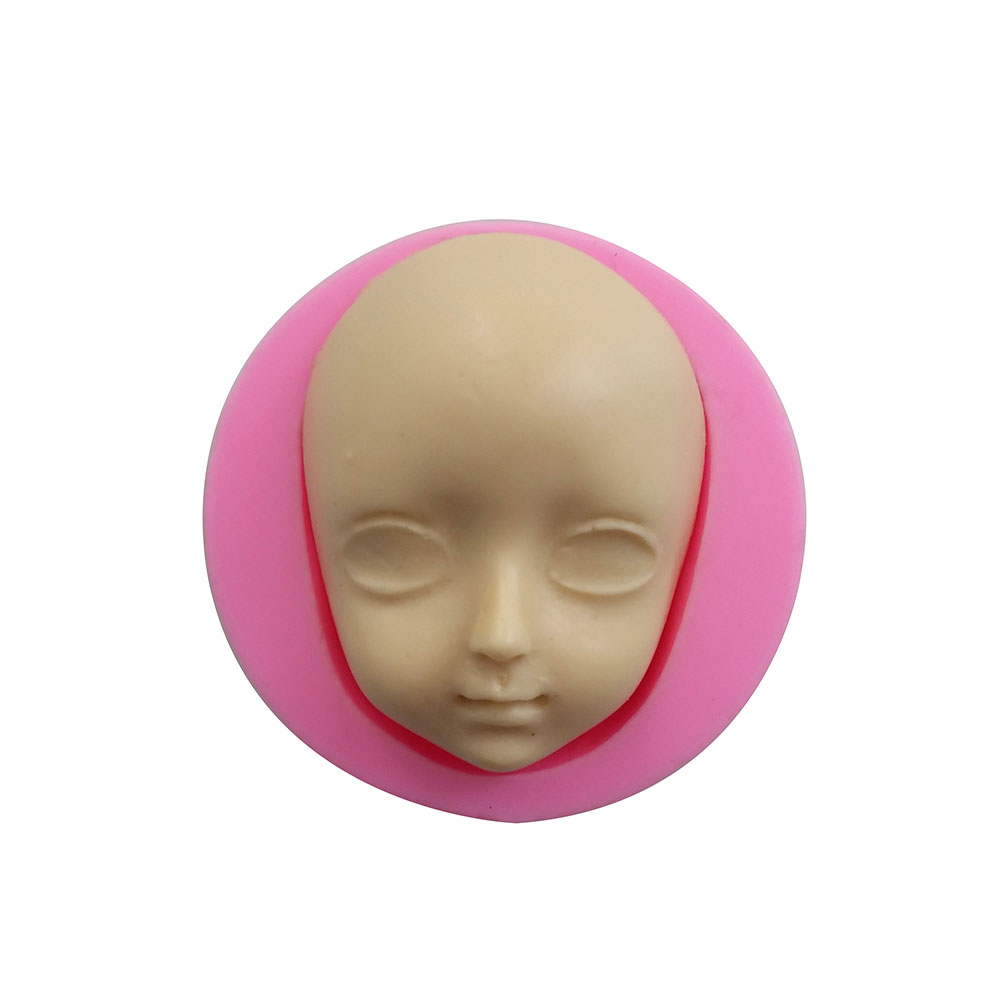 Creativo la niña cara del bebé herramientas de cocina de silicona pasta de azúcar pasta de goma decoración de pasteles arcilla resina azúcar caramelo F0708