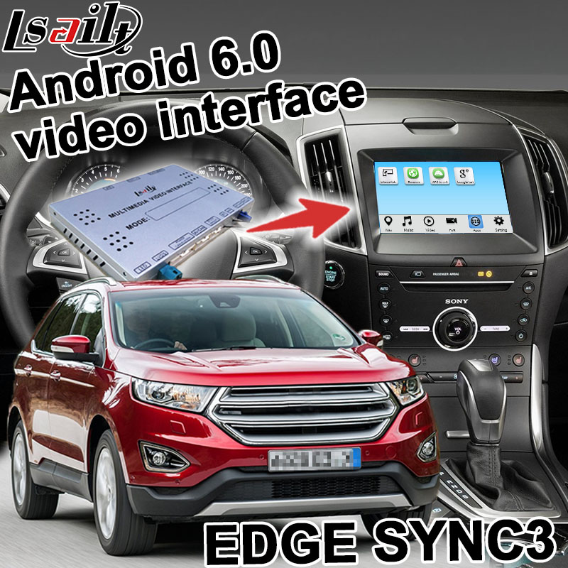 Android navigation box for Ford Edge Explorer etc SYNC 3 video interface box Carplay mirror link waze youtube YANDEX GPS
