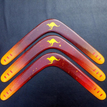 1pcs wood kangaroo Lightweight throw and catch UFO Boomerang flying saucer Flying Disc for Beginner can Return