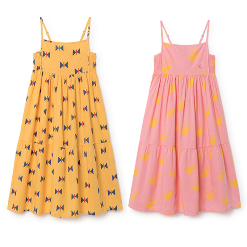 BBK Pre-sale bobo choses 2018 summer girl dress clothes 100%cotton girl beach Sling dress flower girls dresses Bohemian style C* стул coleman summer sling 205147