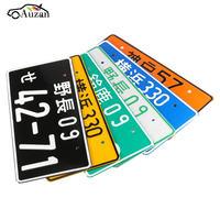 Universal Random Numbers Japanese License Plate Aluminum Tag Jdm Kdm Racing