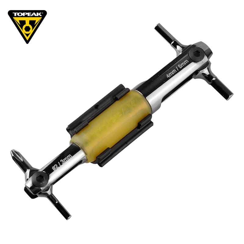 TOPEAK 4 in 1 Multifunction Bicycle Repair Tools C-RV Steel MTB Road Bike 3/4/5mm Inner Hexagon Plum Screwdriver Tool TT2540 bike repair tools bicycle inner hexagon wrench set hxs 1 2 hxs 1 2 ph 1 hr 11 12 14 1 5mm 2mm 2 5mm 3mm 4mm 5mm 6mm