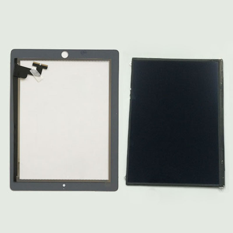 Black / White For iPad 2 A1376 A1395 A1397 A1396 Touch Screen Digitizer Sensor Glass + LCD Display Screen Panel Monitor replacement new lcd display screen for ipad 2 a1376 a1395 a1396 a1397 9 7 inch