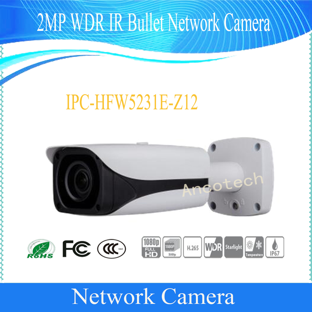Free Shipping DAHUA Security IP Camera 2MP WDR IR Bullet Network Camera IP67 with POE without Logo IPC-HFW5231E-Z12 bullet camera tube camera headset holder with varied size in diameter