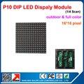 P10 открытый rgb полноцветный светодиодный дисплей модуль доска 160*160 мм, высокое яркое, 10 мм пикселей 16*16 rgb led дисплей модуль