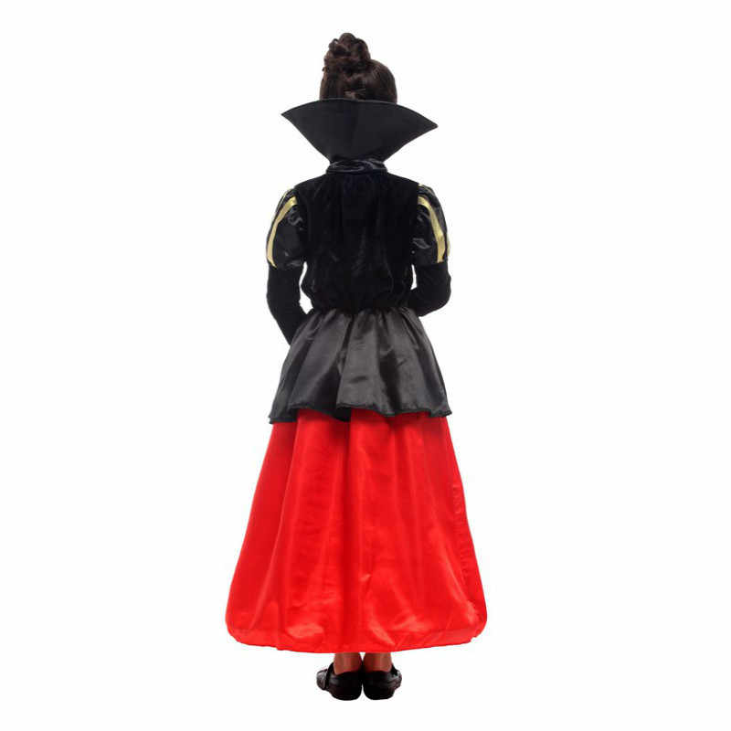 d5913b8b6461e halloween costume for kids children Cosplay Carnival Party clothes child  girls fancy dress red black queen costume for kids