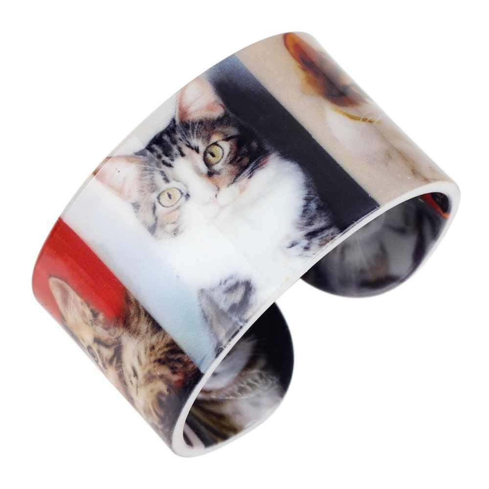 WEVENI חתלתול חתול פלסטיק תכשיטי מלאכת הודית סיטונאי צמידי צמידי אופנה לנשים ילדה גבירותיי בעלי החיים Accessiories
