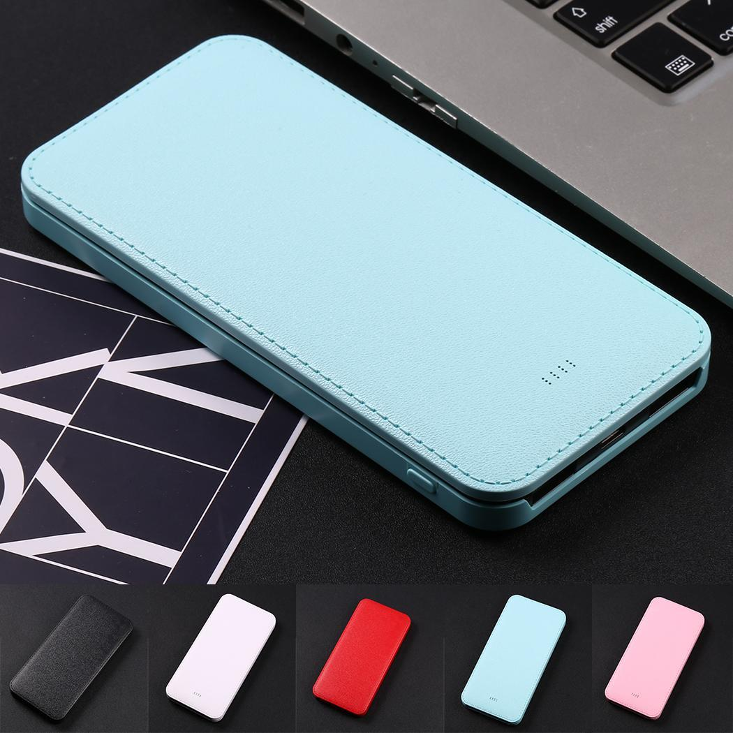 Ultra-thin Dual USB Ports Power Bank Output Powerbank Case Polymer Lithium-ion Battery Shell Box