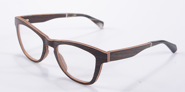 luxury multi layers black walnut wooden glasses full laminated wood eyeglasses optical frame myopia prescription eyewear