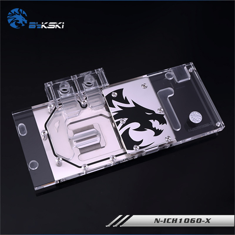 Bykski N-ICH1060-X Full Coverage GPU Water Block For VGA ICHILL GTX1060 X3 Graphics Card Water Cooling Radiator With Controller image
