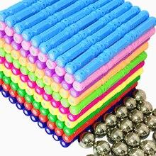 3D Магнитные Игрушки, металлические шарики, Магнитный конструктор, набор для строительства, модель и строительные блоки, развивающие игрушки для детей, подарок