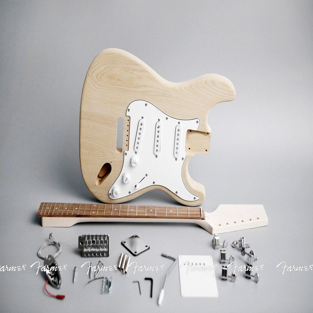 high quality electric guitar diy kit set guitar 6 string elmwood body rosewood fingerboard maple. Black Bedroom Furniture Sets. Home Design Ideas