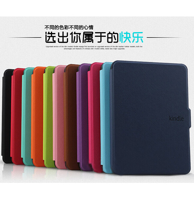 High Quality Cross Pattern Ultra Slim Folio Leather Case Flip Wake Up / Sleep Smart Cover For Amazon Kindle Paperwhite 1 2 3 6 case cover for kindle paperwhite 123 ebook pu leather folio flip smart sleep wake up protective case cover vintage texture