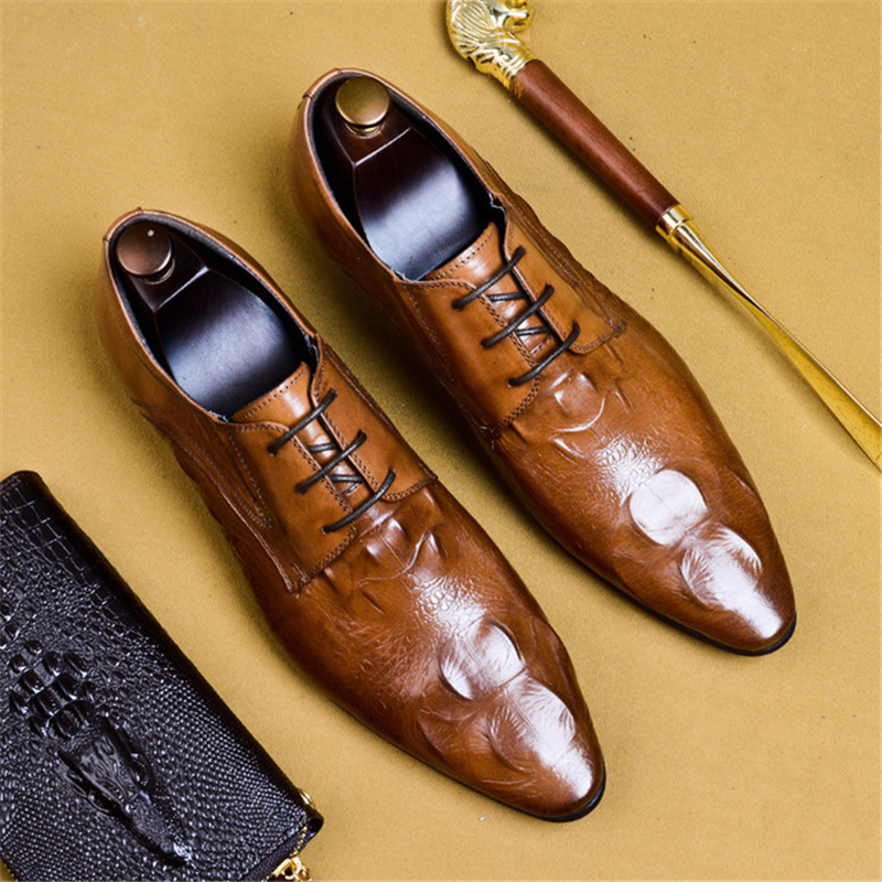 Men leather dress shoes genuine leather luxury brand laces spring Wedding shoes casual flats summer oxford shoes for menMen leather dress shoes genuine leather luxury brand laces spring Wedding shoes casual flats summer oxford shoes for men