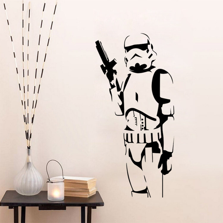 Star Wars Storm Trooper Wall Sticker Vinyl Art Decal Iconic Kid Room