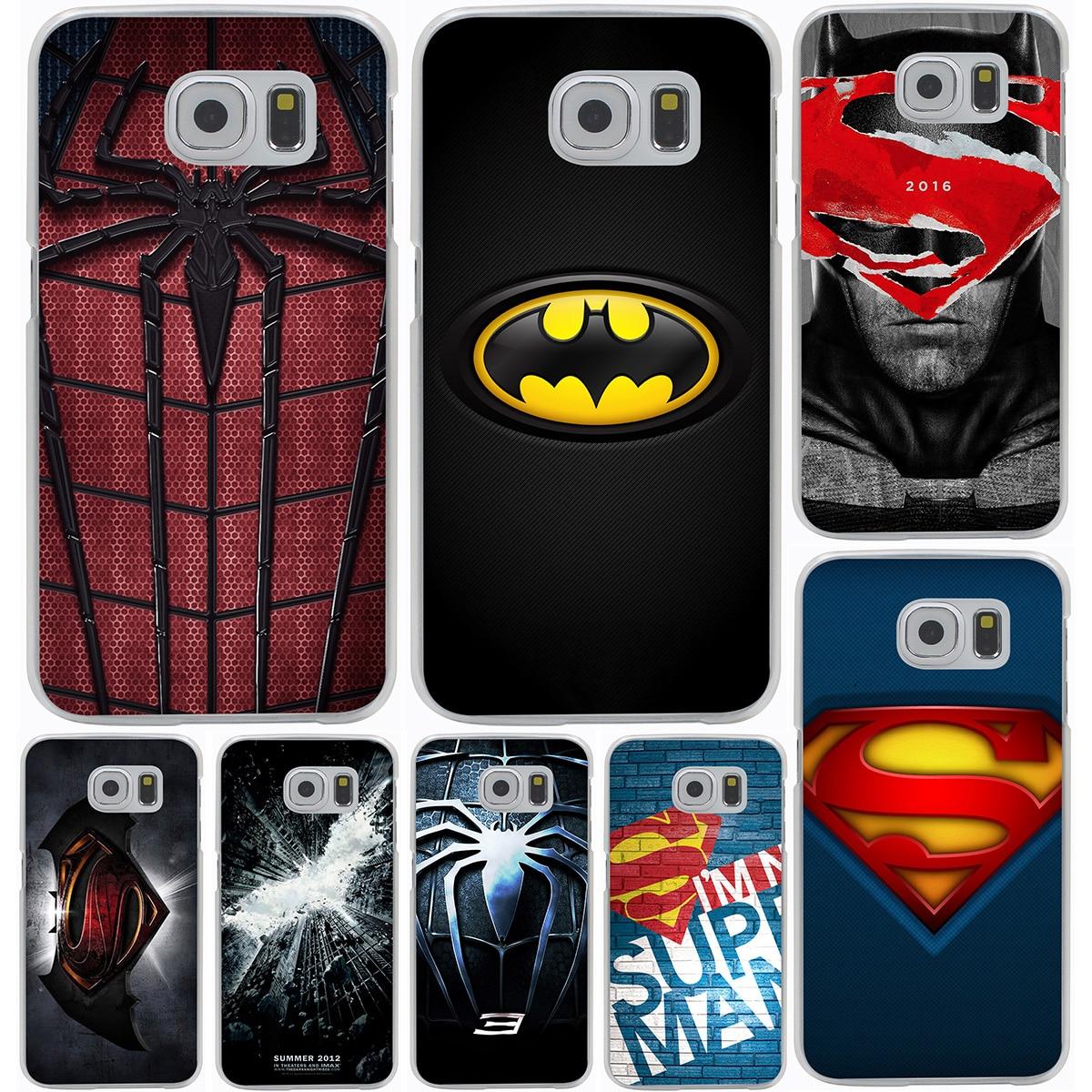 <font><b>Super</b></font> Hero <font><b>Spider</b></font> <font><b>Man</b></font> And Captain America Hard Cover <font><b>Case</b></font> for <font><b>Samsung</b></font> <font><b>Galaxy</b></font> S3 S4 S5 & Mini S6 S7 S8 Edge Plus