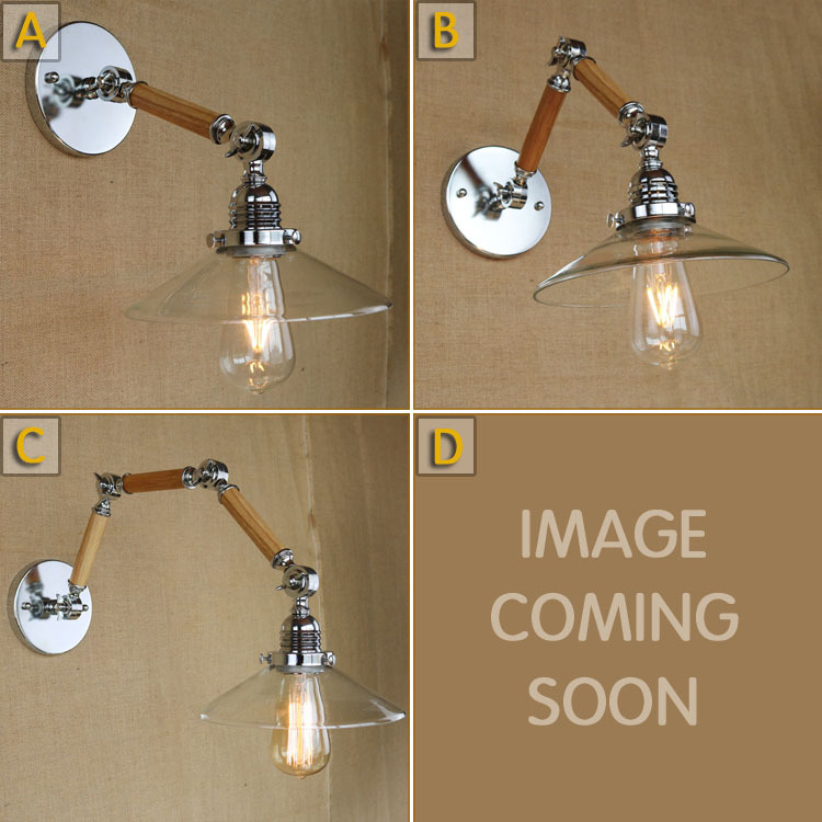 The Nordic country American industrial loft personality RH simple bedside aisle stairs transparent glass wooden wall lamp MZ5 american country vintage wall light nordic rh loft industrial decor e27 bedside lamp fixtures modern bathroom luminaire 110 220v