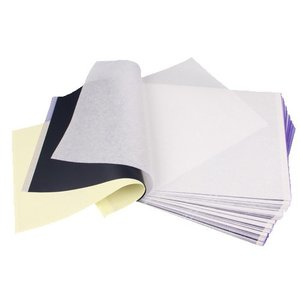 Image 1 - Conjunto 100 tatuagem térmica estêncil transferência papel copiadora a4