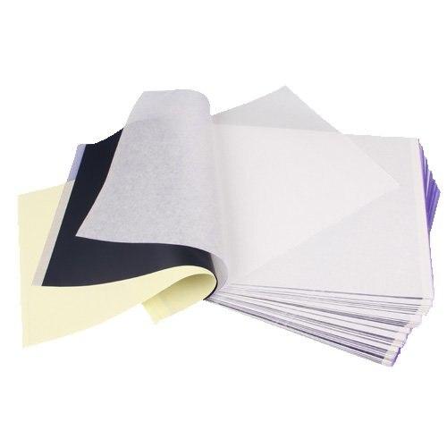 Set 100 papier photocopieur transfert pochoir thermique A4Set 100 papier photocopieur transfert pochoir thermique A4