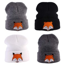 Cartoon Fox Winter Hat For Kids Soft Warm Crochet Knitted Baby Girl Boy Hats Beanie Autumn