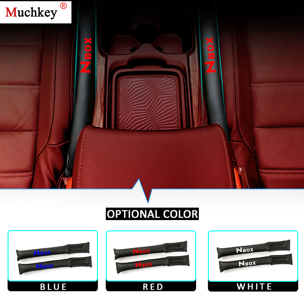 for Honda Cr-V Car Seat Gap Filler Pad PU Leather Crevice Gap Stopper Protector Cushion Filler Slot Plug Prevent Fall 2Pcs Red