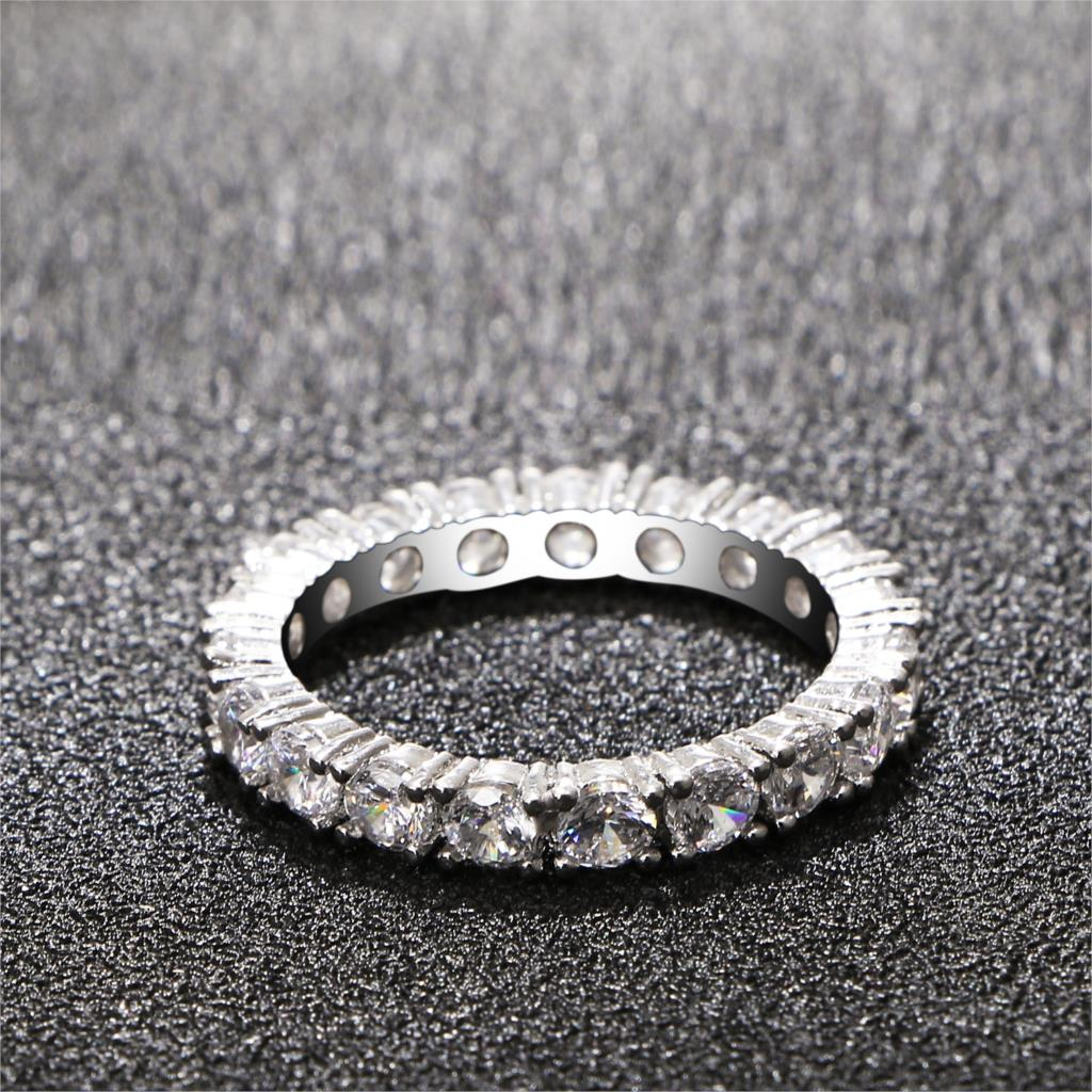 New Fashion Silver Color Zircon Rings For Women High Quality Women Wedding Rings Jewelry Girlfriend Gift Hot Sale 2