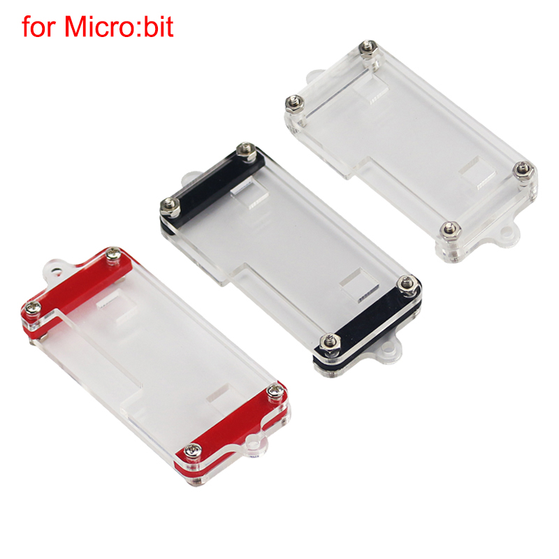 Latest BBC Micro:bit Acrylic Case Transparent Red Black Box Clear Enclosure Shell for Micro:bit for Kids EducationLatest BBC Micro:bit Acrylic Case Transparent Red Black Box Clear Enclosure Shell for Micro:bit for Kids Education