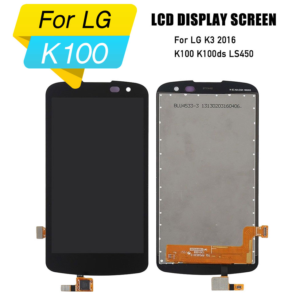 LCD touch screen for <font><b>LG</b></font> K3 2016 display screen digitizer touch screen assembly for <font><b>LG</b></font> K3 2016 <font><b>K100</b></font> K100ds LS450 image
