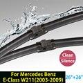 """Escobillas para Mercedes Benz Clase E W211 (2003-2009) 26 """"+ 26"""" ajuste lateral pin brazos del limpiaparabrisas sólo HY-028"""