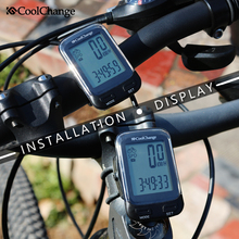 CoolChange Bike Computer Waterproof Wired Wireless Multifunction Bicycle LCD Computer Speedometer Cycling Odometer Accessories