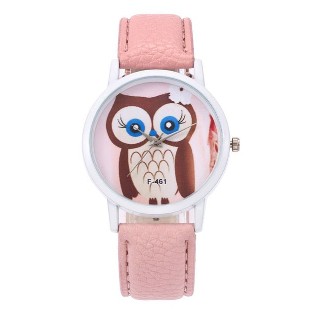 Women Cute Bracelet Watches Simple Leather Strap Wrist Watch Fashion Simple Quar